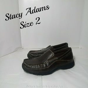 💥2/$30💥Stacy Adams Brown Slip on Loafers Size 2